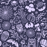 Vector uitstekend naadloos Halloween Stock Foto