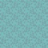 Vector uitstekend turkoois bloemen naadloos patroon Stock Afbeeldingen