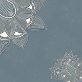 Vector uitstekende achtergrond met bloemenelementen stock illustratie
