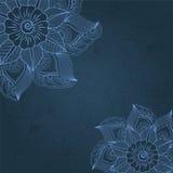 Vector uitstekende achtergrond met bloemenelementen Royalty-vrije Stock Foto