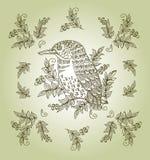 Vector uitstekende bloemenachtergrond met decoratief Royalty-vrije Stock Afbeeldingen