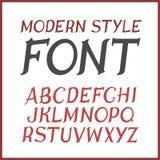 Vector uitstekende etiketdoopvont Moderne stijl Stock Foto's
