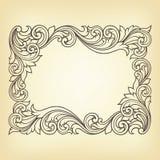 Vector uitstekende grensframe gravure vector illustratie
