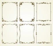 Vector uitstekende kalligrafische geplaatste kaders Stock Foto's