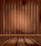 Vector uitstekende ruimte met houten vloeren vector illustratie