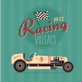 Vector uitstekende sportraceauto's Stock Fotografie