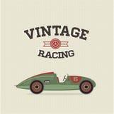 Vector uitstekende sportraceauto's Royalty-vrije Stock Afbeeldingen