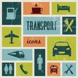 Vector uitstekende vervoeraffiche Stock Afbeeldingen