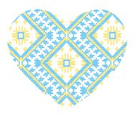 Vector Ukrainian national ornaments Stock Photos