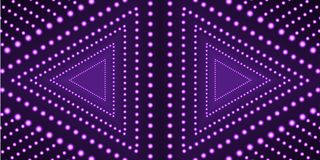 Vector Ultraviolet Triangles Background Template, Neon Geometric Shape, Technology. stock illustration