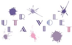 Vector Ultraviolette Kleuren Abstracte Achtergrond Stock Afbeeldingen