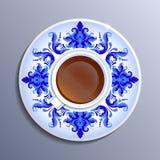 Vector um copo do chá Fotos de Stock Royalty Free