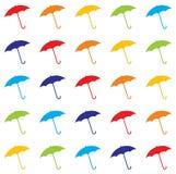 Vector Umbrella. Raining umbrellas in different colours Stock Image