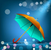 Vector umbrella on a blue background Royalty Free Stock Photo