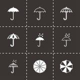 Vector umbrella icon set Royalty Free Stock Photo