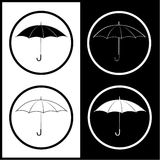 Vector umbrella icons Royalty Free Stock Image