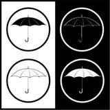 Vector umbrella icons Royalty Free Stock Image