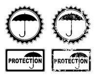 Vector umbrella protection Stock Photos