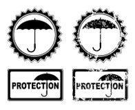Vector umbrella protection Stock Photos