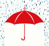 vector umbrella protection from rain drops Royalty Free Stock Photos