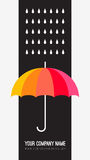 Vector umbrella and rain drops. Abstract weather Stock Photography