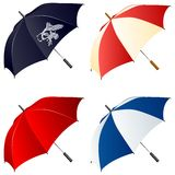 Vector umbrellas Stock Photography