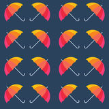 Vector umbrellas. Abstract seamless pattern design Stock Photo