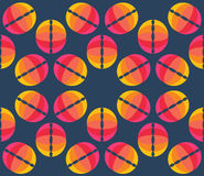 Vector umbrellas. Abstract seamless pattern design Royalty Free Stock Photo
