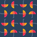 Vector umbrellas. Abstract seamless pattern design Royalty Free Stock Image