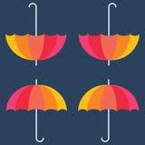 Vector umbrellas. Abstract seamless pattern design Stock Image
