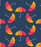 Vector umbrellas. Abstract seamless pattern design Stock Images