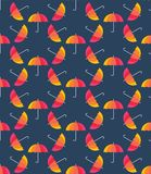 Vector umbrellas. Abstract seamless pattern design Royalty Free Stock Photos