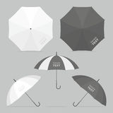 Vector umbrellas set. Umbrellas and parasols in various positions. vector illustration Stock Images