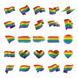 Vector una bandera del arco iris libre illustration