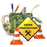Vector Under Construction Concept with Sign Stock Photography