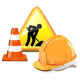 Vector Under Construction Concept Royalty Free Stock Image