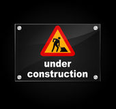 Vector under construction sign Royalty Free Stock Photo