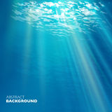 Vector under water background. Design template. Blue deep sea Stock Image