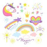 Vector unicorn set Stock Photos