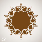 Vector union conceptual symbol. Festive design element with star Stock Photography
