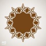 Vector union conceptual symbol. Festive design element with star. S, decorative luxury template. Corporate branding icon, eps8 Stock Photography
