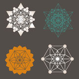 Sacred geometry  unique design collection Royalty Free Stock Images