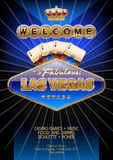 Vector unique flyer for party in casino in Las Vegas Stock Photography