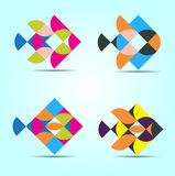 Vector Unique Shape  illustration. This is Set of Vector Unique Shape  illustration  best of use your company or personal identity Royalty Free Stock Images
