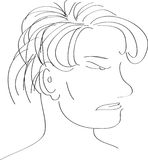Vector unisex-gezicht Stock Afbeeldingen