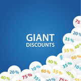 Vector universal banner for your promotion. Composition of sale Royalty Free Stock Photo