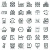 Business and finance icons set. Vector universal business and finance icons set for all needs Royalty Free Stock Image