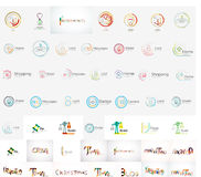 Vector universal mega set of company logos Stock Images