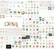 Vector universal mega set of company logos Stock Images