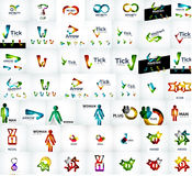 Vector universal mega set of company logos Stock Photos